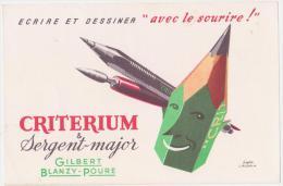"Buvard Ancien  Plumes ""Sergent-major"" Criterium - P"