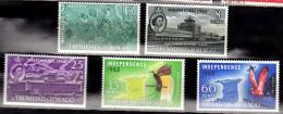 Trinidad & Tobago, 1962, SG 300-304 Set Of 5, Complete Set, MNH - Trinidad En Tobago (1962-...)