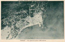 Voyage Aerien De Marseille A Casablanca, Tanger, Vue Generale Prise De 2000 Metres - Tanger