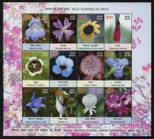 INDIA ,2013,  MNH,FLOWERS, SHEETLET - Zonder Classificatie