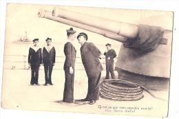 - Militaria Marine Humour - Qu'est Ce Que Vous Attendez Là - La Classe Chef - écrite TB (sauf Pli Angle) - Marins - Humour