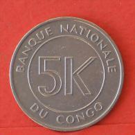 CONGO  5  MAKUTA  1967   KM# 9  -    (Nº03898) - Congo (Democratic Republic 1964-70)