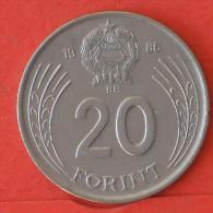 HUNGARY  20  FORINT  1986   KM# 630  -    (Nº03906) - Hongrie