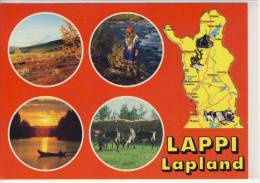 LAPPI - LAPLAND -  Multi View,  With Rendeer, Renne,   Stamp EUROPA - Finlande
