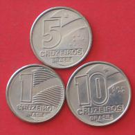 BRAZIL        3 Coins   -    (Nº03922) - Kilowaar - Munten