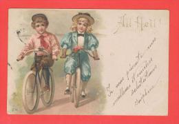 All Heil Bon Voeux  Cachet Ferroviaire Bollweiler Lauterbach Zug 542 - 1900 - Autres