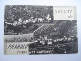 Saluti Da PRAROLO ISOLA DEL CANTONE GENOVA Strappi - FG- Non VIAGGIATA    *(lig2242 - Genova