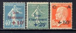 FRANCE - N° 246/248* - AU PROFIT DE LA CAISSE D'AMORTISSEMENT - France