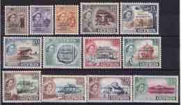 CYPRUS 1960 Frangoudis#190-202  Definite Issue Of 1955 Set Overprinted Cyprus Republic Incomplete Set MNH XF - Cyprus (Republic)