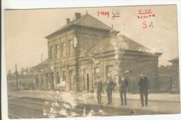 Gits Zeldzame Fotokaart Van Het Station Beschadigd Zie Scan - Hooglede