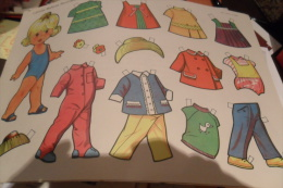 Lote 10 Diferents Muñecas Recortables, Cut-out Dolls , Poupees A Decouper , Diferents - Altre Collezioni