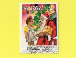 "SENEGAL ,,, NOEL  93,, """"  150 F. """" ,,, POSTE 1993 ,,,TBE - Senegal (1960-...)"