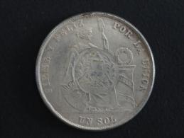 1871 - RARE - FAUX - FAUSSE MONNAIE - 1 Sol - Pérou - Peru - 39 Mm De Diamètre - Pérou