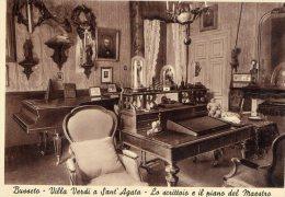 [DC7327] BUSSETO (PARMA) - VILLA VERDI A SANT´AGATA - LO SCRITTOIO E IL PIANO DEL MAESTRO - Old Postcard - Parma