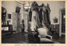 [DC7328] BUSSETO (PARMA) - VILLA VERDI A SANT´AGATA -CAMERA DA LETTO DEL MAESTRO - Old Postcard - Parma