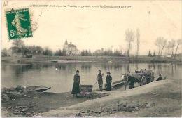 ANDREZIEUX - La Traille Organisée Après Les Innondations De 1907 - Andrézieux-Bouthéon
