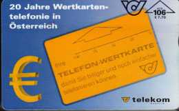 Autriche : 20 Jahre Wertkarten-telefonie In Österreich : ATS 106 = €7,70 - Austria