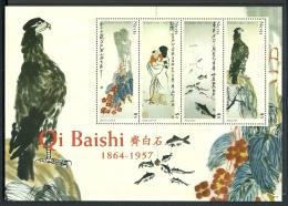 Nevis 2007 Qi Baishi 1973/1976 Sheet ***