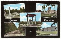 Groeten Uit OVERLOON - Boxmeer - Noord-Brabant - R.K. Kerk - Engels Kerkhof - Kapel - Fotokaart - Boxmeer