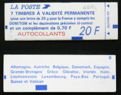 CARNET 1506 Cote 40€ TB 70c BRIAT - Freimarke