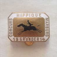 Badge / Pin (Equestrianism / Horseback Riding) - Germany (Deutschland) Marburg Race 1914 - Badges