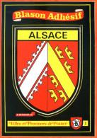 Carte Blason Adhésif ALSACE Région Villes Provinces De France TBE - Frankreich