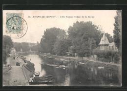 CPA Joinville-le-Pont, L´Ile Farnac Et Quai De La Marne - Joinville Le Pont