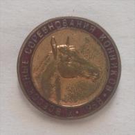 Badge / Pin (Equestrianism / Horseback Riding) - USSR SSSR CCCP Competition 1968 - Badges