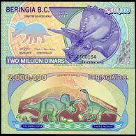 BERINGIA B.C. 2,000,0000 MILLION D 2013 TRICERATOPS NEW POLYMER UNC - Bankbiljetten