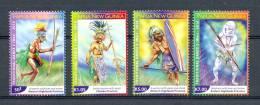 CHEAP SHIPPING * PAPUA NEW GUINEE * SERIE 4v * YEAR 2010 * TRADITIONAL WAR DANCERS * MNH - Papoea-Nieuw-Guinea
