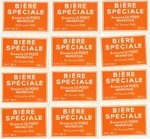 15 Etiquettes Brasserie De La Poste à Warneton Van Windekens De Simpel Tournai - Birra