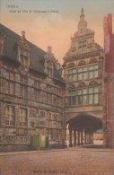 Cpa/pk 1910 Ieper Ypres Yper Hotel De Ville Et Conciergerie KLEUR COLOR Florimond Bartier - Ieper