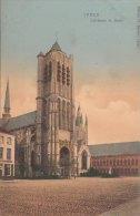 Cpa/pk 1910 Ieper Ypres Yper Cathédrale St.Martin  KLEUR COLOR Florimond Bartier - Ieper