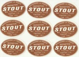 12 Etiquettes Brasserie De La Poste à Warneton Van Windekens De Simpel Tournai - Bier