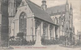 Cpa/pk 1905 Ieper Ypres Yper La Statue Vandenpeereboom  Van Den Heuvel - Ieper
