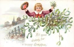 4888 Tuck´s No.102 Christmas Boy Waving Hat - Tuck, Raphael