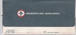 BILLET D´AVION AMERICAN AIRLINES 1963 / HARNFORD BOSTON MONTREAL TORONTO - Billets D'embarquement D'avion