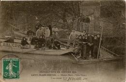 SAINT MAUR DES FOSSES INNONDATIONS DE JANVIER 1910 MAISON NUOT VILLA SHAKEN  CPA BE ANGLES LEGEREMENTS ARRONDI - Saint Maur Des Fosses