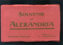 S4604 CARTOLINA EGITTO SOUVENIR OF ALEXANDRIA FOLDER 24 ARTISTIC POST CARDS - Alexandrië