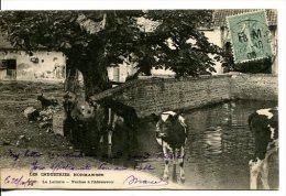 NORMANDIE (50) - Les Industries Normandes - La Laiterie, Les Vaches à L'abreuvoir Avec Timbre FM Semeuse Vert - Non Classés