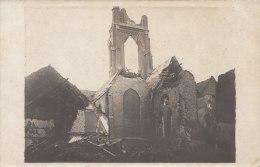 Cpa/pk 1918 Loo Lo-Reninge Kerk église Guerre Oorlog Schade FOTOKAART - Lo-Reninge