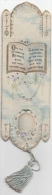 """C1900 """"on The Leaves Of Memory's Book Are..."""" - Old Bookmark/antico Segnalibro - Marque-Pages"""