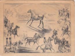 C1900   HORSES / CAVALLI CARTONCINO INGLESE BRITISH CARD - Vieux Papiers