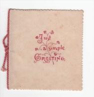 C1900   PICCOLO CARTONCINO AUGURALE JUST A SIMPLE GREETING - Vieux Papiers