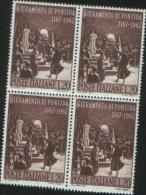 Italia Italy 1967 800 Anniversario Del Giuramento Di Pontida In Quartina Nuova Illinguellata ** MNH - 6. 1946-.. Repubblica