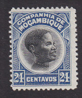 Mozambique Company, Scott #155, Mint Hinged, Native, Issued 1925 - Mozambique