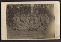 """CPA CARTE PHOTO REGIMENT MILITAIRE - Soldats """" 170 è Honneur Aux Lions 2è Cie 2è Demi """" - Regiments"""