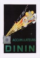 Postcard Advert Dinin Accumulateurs Advertisement French Car Battery Poster - Publicité
