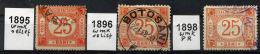 ROMANIA Parcel Post 1895-98 - 3 Used Stamps - Paketmarken