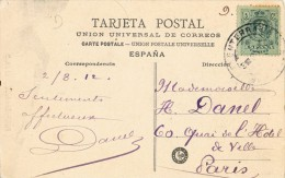 6034. Postal FUENTERRABIA (Guipuzcoa) 1912. Puerta Entrada Poblacion - Cartas